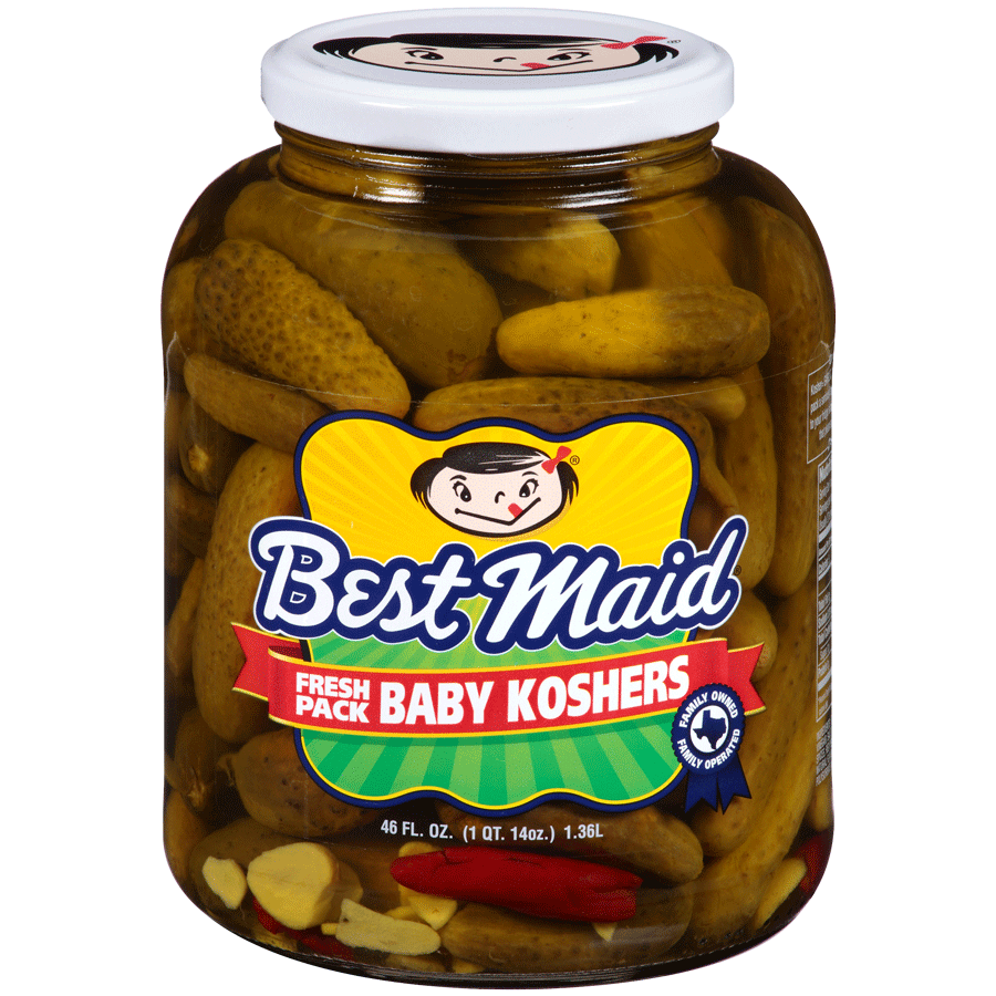 Baby Kosher Pickles in a 46oz jar