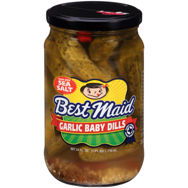 Garlic baby Dill Pickle 24oz jar