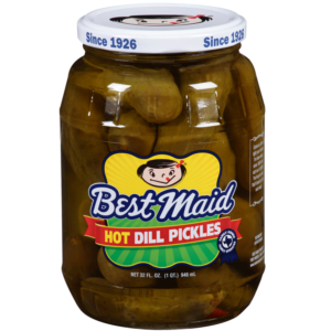 Hot Dill Pickles 32oz Jar