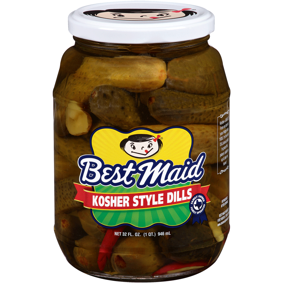 Kosher Style Dill Pickles 32oz Jar