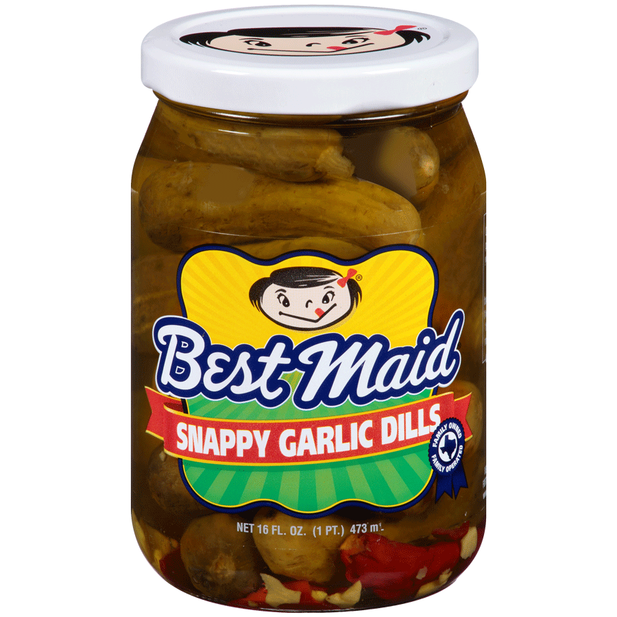 Snappy Garlic Dill Pickles 16oz jar