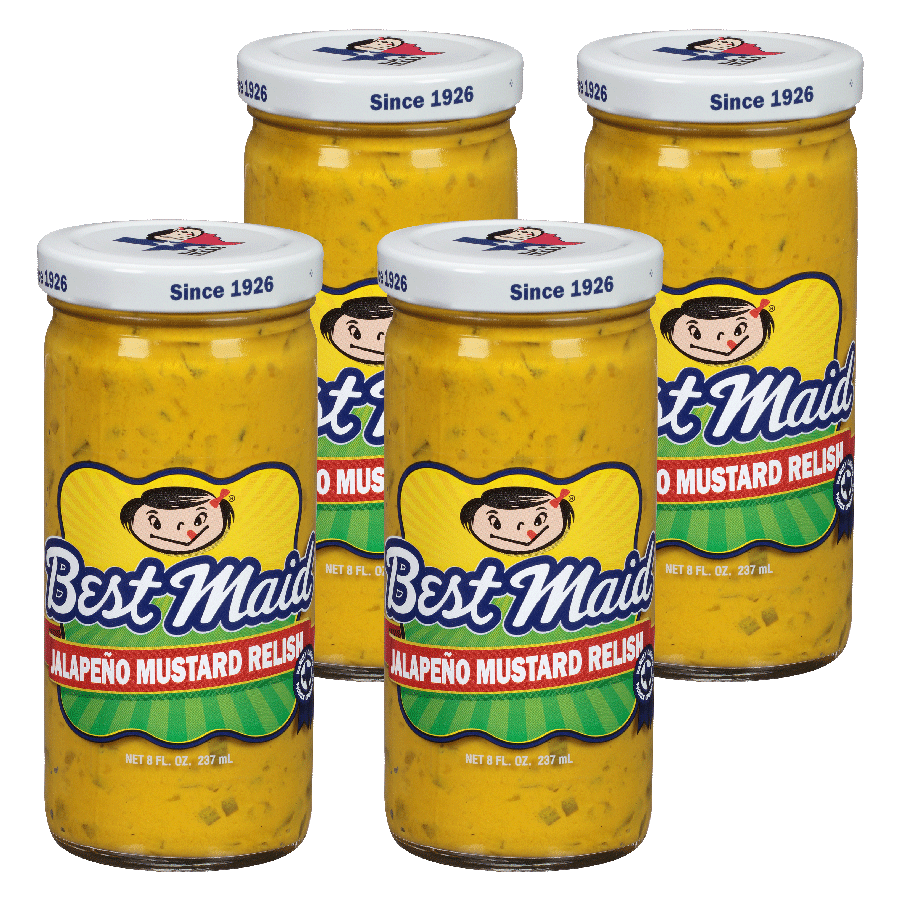Jalapeno Mustard Relish 8 oz 4 pack