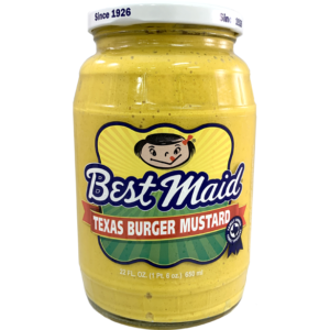 Best Maid Texas Burger Mustard in a 22 ounce jar.